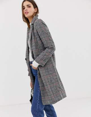 QED London double breasted check coat