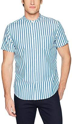 Calvin Klein Jeans Men's Short Sleeve Button Down Shirt Cruize Stripe