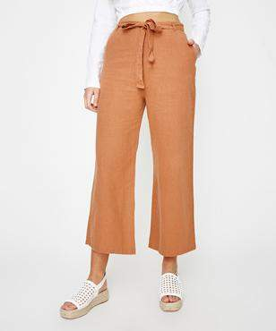 Subtitled Katie Cropped Pant Rust