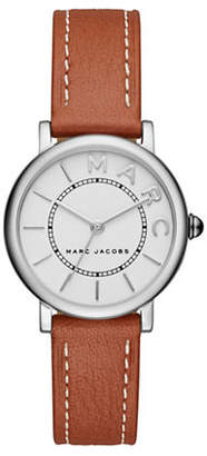 Marc Jacobs Roxy Stainless Steel Leather Strap Watch