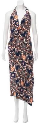 HANEY Silk Halter Dress