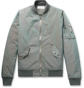 John Elliott Bogota Iridescent Nylon Bomber Jacket
