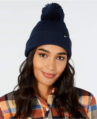 ... Under Armour Favorite Waffle-Knit Pom-Pom Beanie 508175201cfd