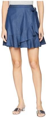 BCBGeneration Bow Front Flirty Wrap Mini Skirt Women's Skirt