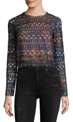 Saloni Crochet Cropped Top
