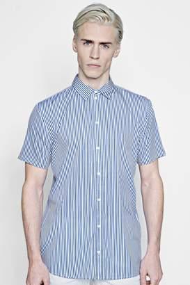 boohoo Short Sleeve Stripe Shirt