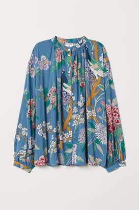 H&M Patterned Blouse - Blue