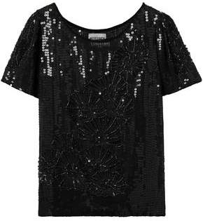 Antik Batik Salima Bead And Sequin-Embellished Chiffon T-Shirt