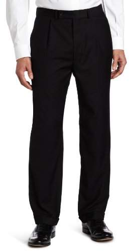 Geoffrey Beene Men's Black Solid Suit Separate Pant