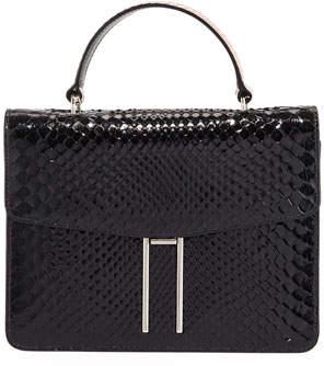 Hayward Top-Handle Shiny Python Bag