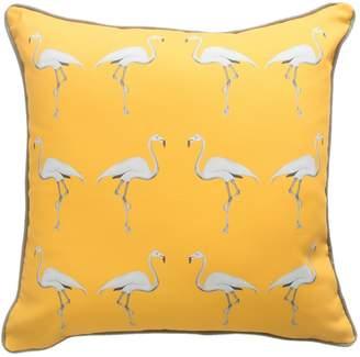 Dwelling Bird - Flamingo Cushion Mustard Sun