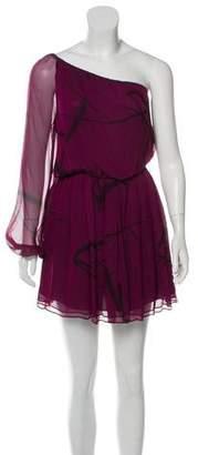 Alice + Olivia Silk One-Shoulder Dress