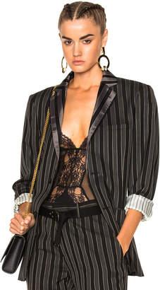 Alexander McQueen Stripe Wool Blazer