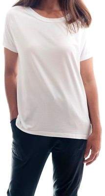 NEW Raglan Sleeve Scoop Back Tee in White Women's by Miles From