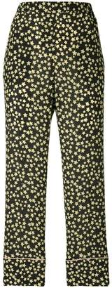 No.21 star print cropped trousers