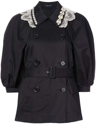 Simone Rocha double-breasted belted coat