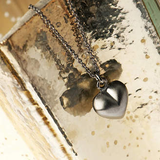 Grace & Valour Black Alternative Heart Necklace On A Gift Card