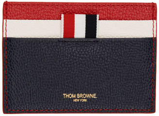 Thom Browne Red and Navy Fun Mix Double Sided Card Holder