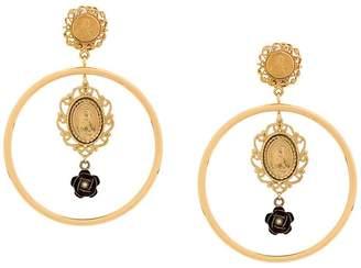 Dolce & Gabbana Madonna medallion earrings
