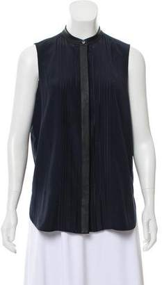 Vince Sleeveless Button-Up Blouse