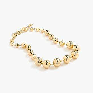 J.Crew Graduated gold ball necklace