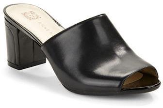Anne KleinAnne Klein Carena Open-Toe Leather Mules