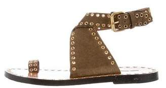 Isabel Marant Leather Ankle Strap Sandals