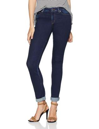 Love Moschino Women's Jeans Skinny Fit Denim Trousers with Hearth Shaped Button On The Back Pocket (Blue 111l) W28/L32 (Size: 28)