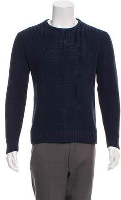 Ami Alexandre Mattiussi Cable Knit Crew Neck Sweater