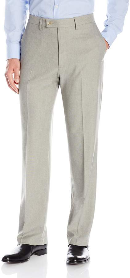 Haggar Men's Expandomatic Stretch Classic Fit Plain Front Dress Pant