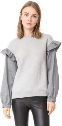 Clu Clu Too Sweatshirt with Contrast Sleeves $209 thestylecure.com