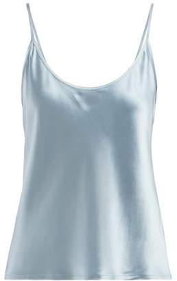 La Perla Silk Satin Pyjama Camisole - Womens - Light Blue bf034ddf0