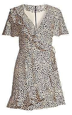 Rebecca Vallance Women's Anya A-Line Leopard Wrap Dress - Size 0
