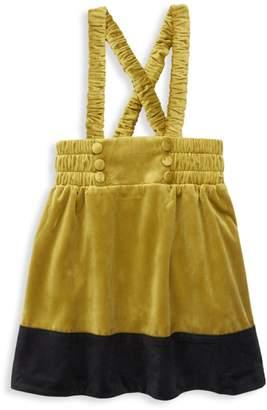 Carbon Soldier Little Girl's & Girl's Galloway Velvet Skirt