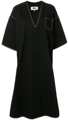 MM6 MAISON MARGIELA contrast stitch oversized dress