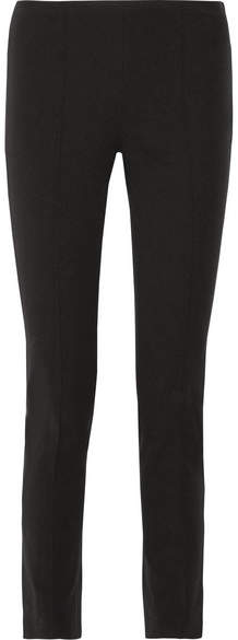 Michael Kors Collection - Stretch Cotton And Modal-blend Twill Skinny Pants - Black