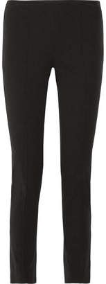 Michael Kors Collection - Stretch Cotton And Modal-blend Twill Skinny Pants - Black $595 thestylecure.com