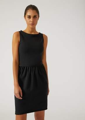 Emporio Armani Dress With Ruffle Edging
