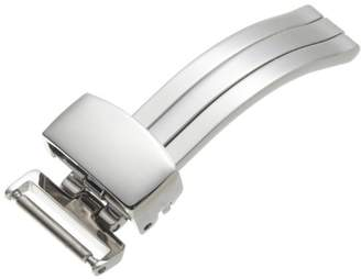 Hadley-Roma Women's BKL300W-12MM Stainless Steel Deployant Buckle SS Watchband