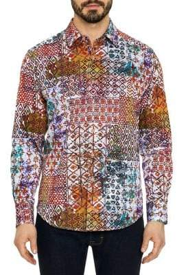 Robert Graham Rhone River Dynamic Print Button-Down Shirt