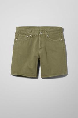 Weekday Vacant Khaki Green Shorts - Green