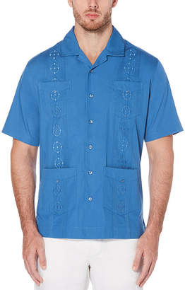 Cubavera Short Sleeve Guayabera Button-Front Shirt