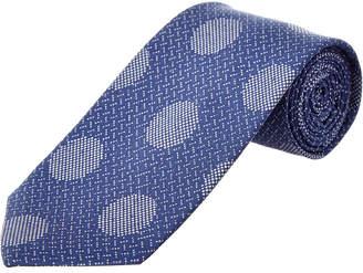 Cole Haan Blue Dock Dot Silk-Blend Tie