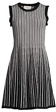 Kate Spade Women's Dashing Beauty Textured Fit-&-Flare Sweater Dress