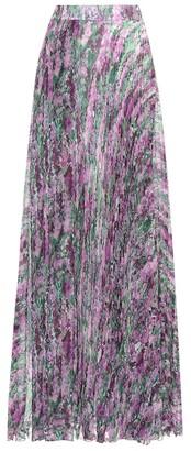 Max Mara Floral-printed pleated skirt