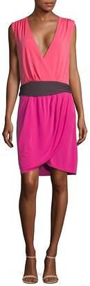 Halston Women's Colorblock Wrap Dress