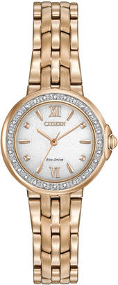 Citizen 30mm Eco-Drive Crystal Bracelet Watch, Yellow Golden