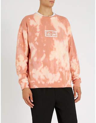 Obey Jumbled Eyes tie-dye cotton-jersey sweatshirt