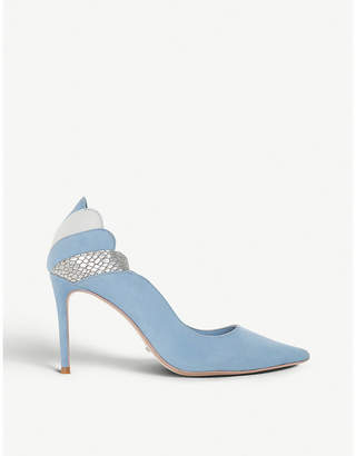 Dune Aerielle scalloped suede courts