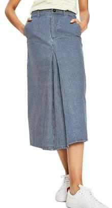 Boden Ticking Stripe Midi Skirt
